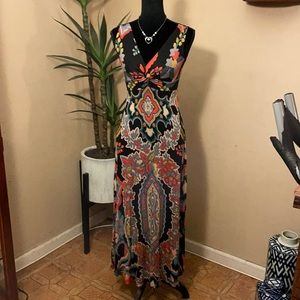 - Anthropologie Maeve eclectic maxi dress